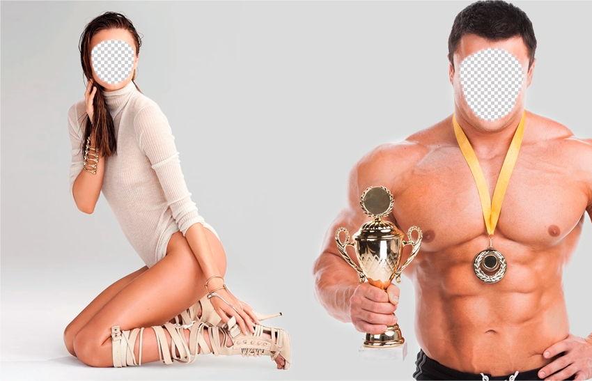 вставить свое лицо в картинку спортсмена имеющейся проблемы