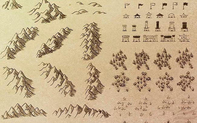 Кисти для каллиграфической картографии для Adobe Photoshop