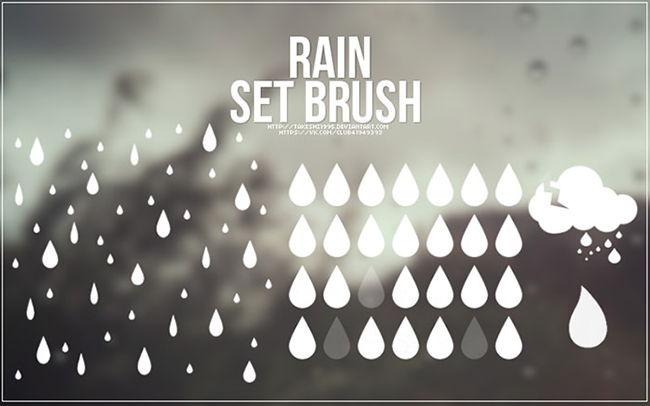 Векторный дождь кисти для Adobe Photoshop