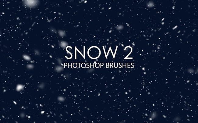 Снежные кисти для Adobe Photoshop